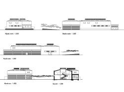 grijalba-arquitectos-proyecto-restauracion-centro 3 edad matadero- Valladolid- alzados y secciones