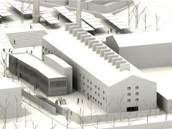 grijalba-arquitectos-concurso- rehabilitacion-la tejera-palencia-maqueta diurna 1