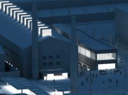 grijalba-arquitectos-concurso- rehabilitacion-la tejera-palencia-maqueta nocturna 1