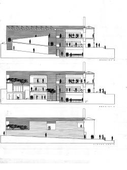 grijalba-arquitectos-concurso- edificio publico-restauracion-Ayto Iscar- Valladolid- alzados seccion 2